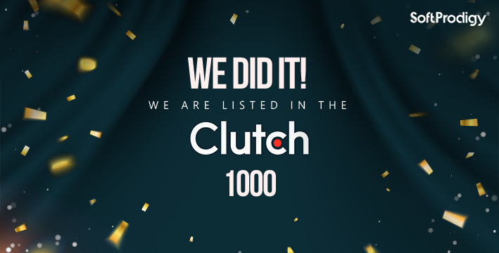 We did it! We are listed in the Clutch 1000