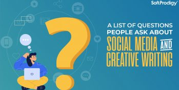 A list of questions people ask about social media and creative writing.